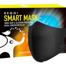 Beggi Smart Mask 5s 智能感温口罩 5枚一盒 (热利子技术,一戴抗鼻敏)