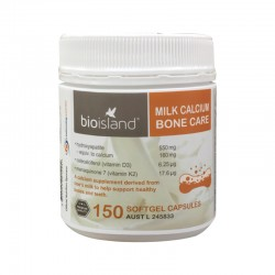 Bioisland Milk Calcium Bone Care 150 Softgel Capsules 生物岛 天然乳钙 胶囊 孕妇成人老人均可 150粒