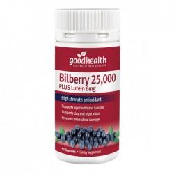 Good Health Bilberry 25,000 + Lutein 6mg 60s