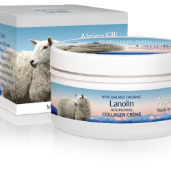 Alpine Silk organic lanolin nourishing collagen creme 100g