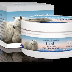 Alpine Silk organic lanolin nourishing collagen creme 100g