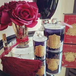 Cote Noire Luxurious French Candles, Diffusers and Real touch perfumed flowers
