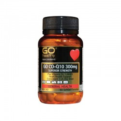 Go Healthy GO CO-Q10 300mg Plus Vitamin D3 1,000IU 60s