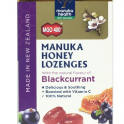 Manuka Health Blackcurrant Lozenges MGO400 15s