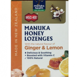 Manuka Health Ginger Lemon Lozenges 15s MGO400