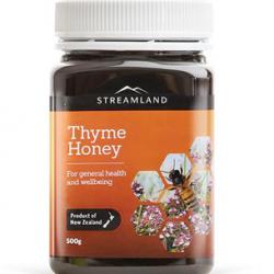 Streamland Thyme Honey 500g 【GE free,No added sugar,No preservative,NZ made】