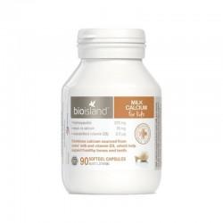BioIsland Milk Calcium Kids 90 Capsules 生物岛 婴幼儿液体乳钙 90粒